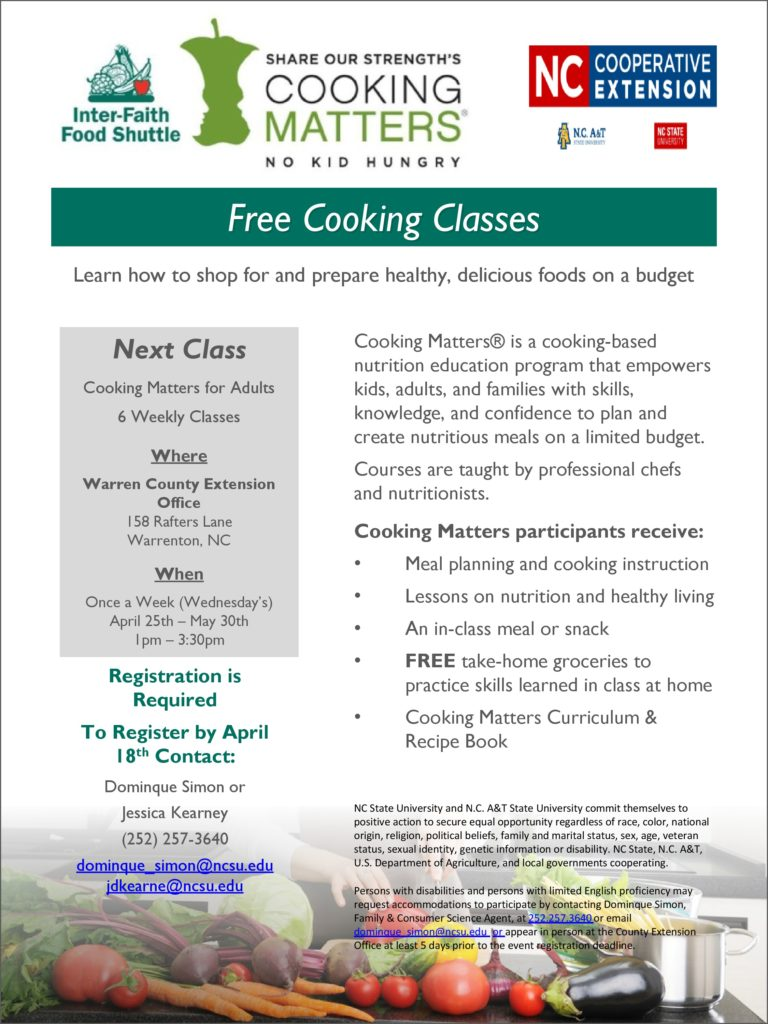 Cooking matters free cooking class north carolina cooperative cooking matters flyer image forumfinder Choice Image