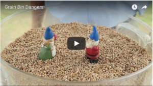 Grain Bin Dangers video screen
