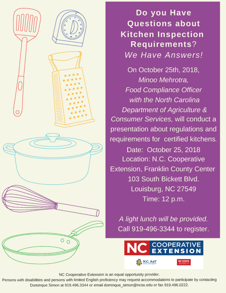 Kitchen Inspection Requirements flyer image
