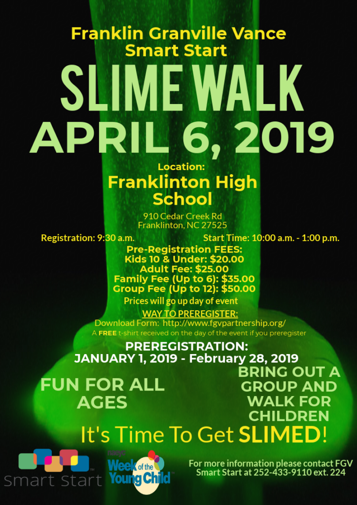 Slime walk flyer image
