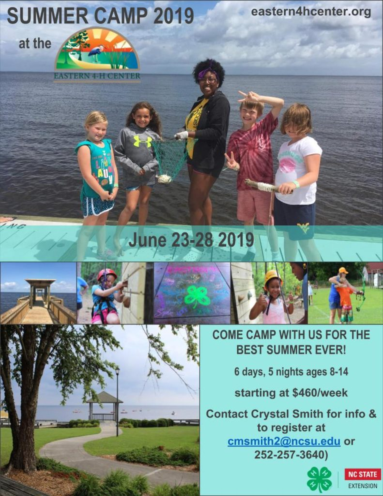2019 4-H Summer Camp flyer