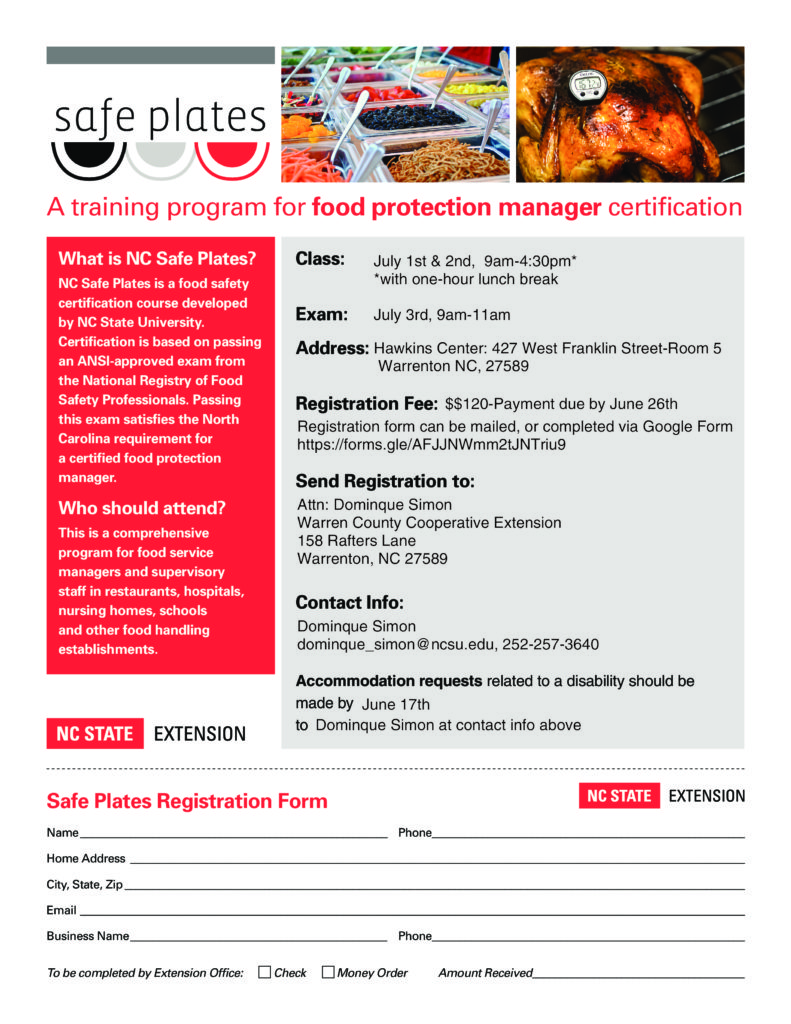 Safe Plates Course-ANSI Approved Food Safety Certification