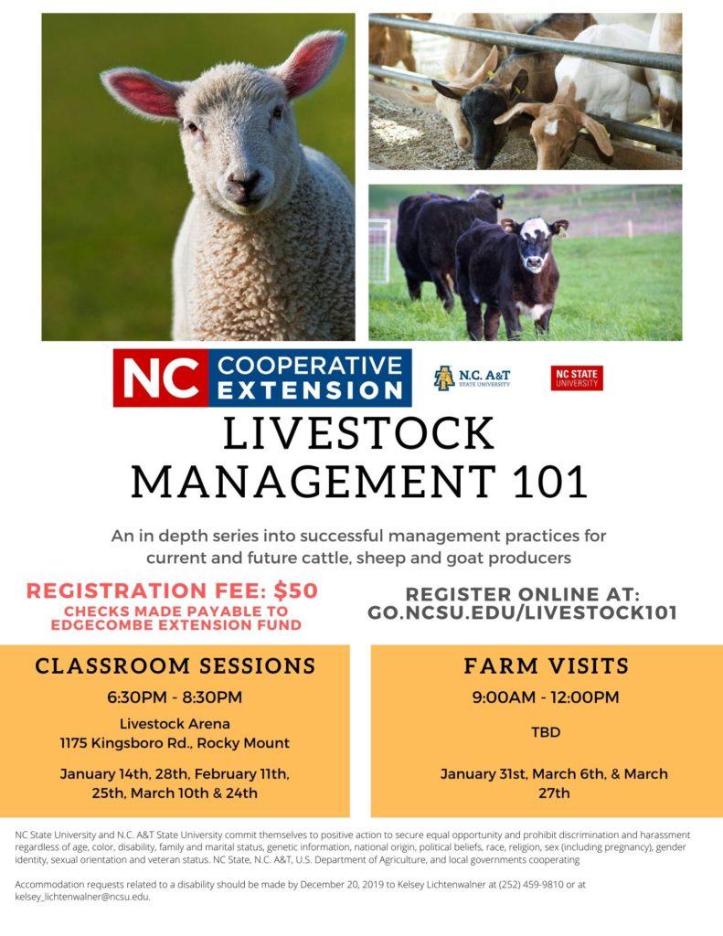 Livestock Management 101 flyer image