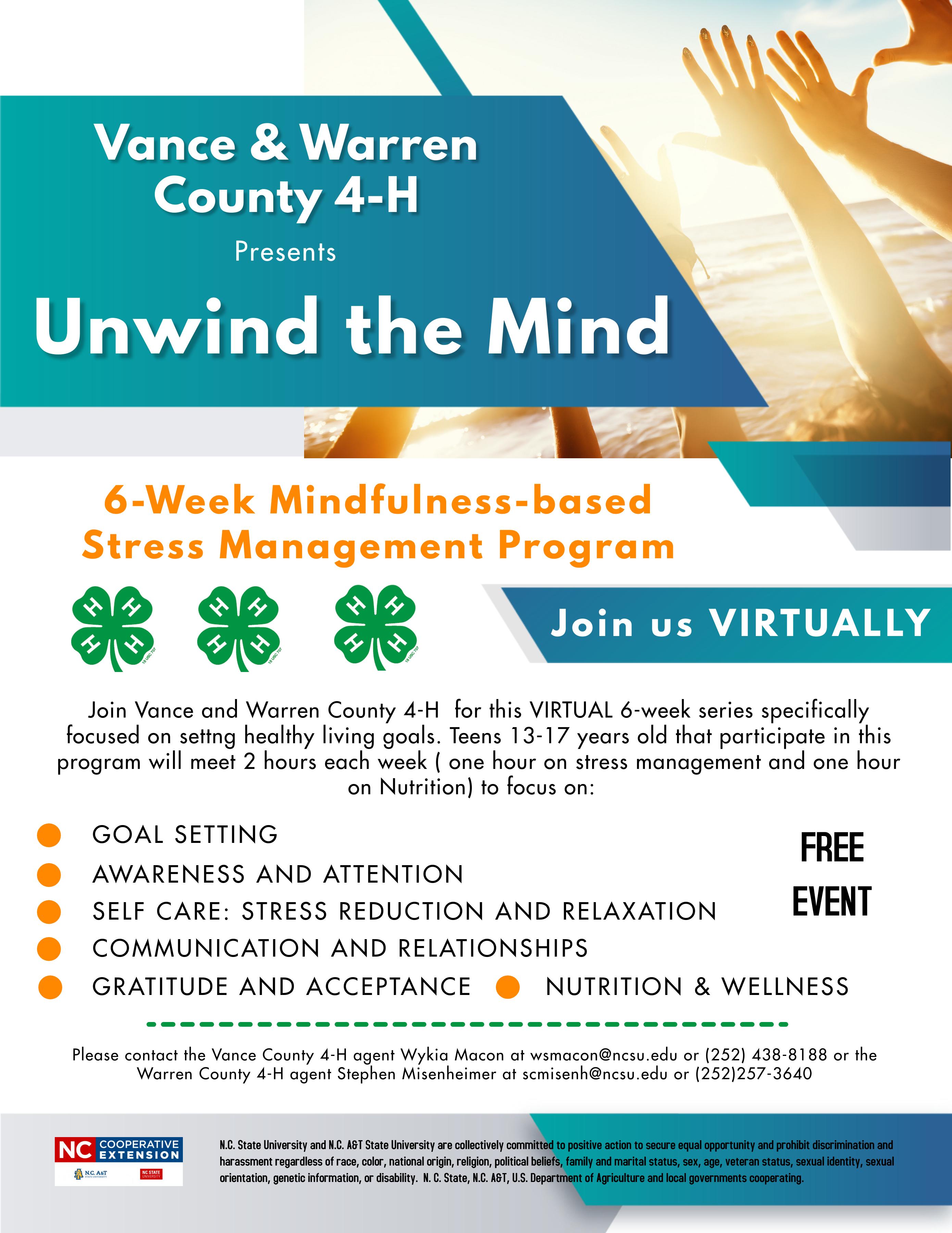 Unwind the Mind flyer image