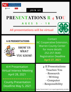 Cover photo for 4-H Presentations R They 4 U???