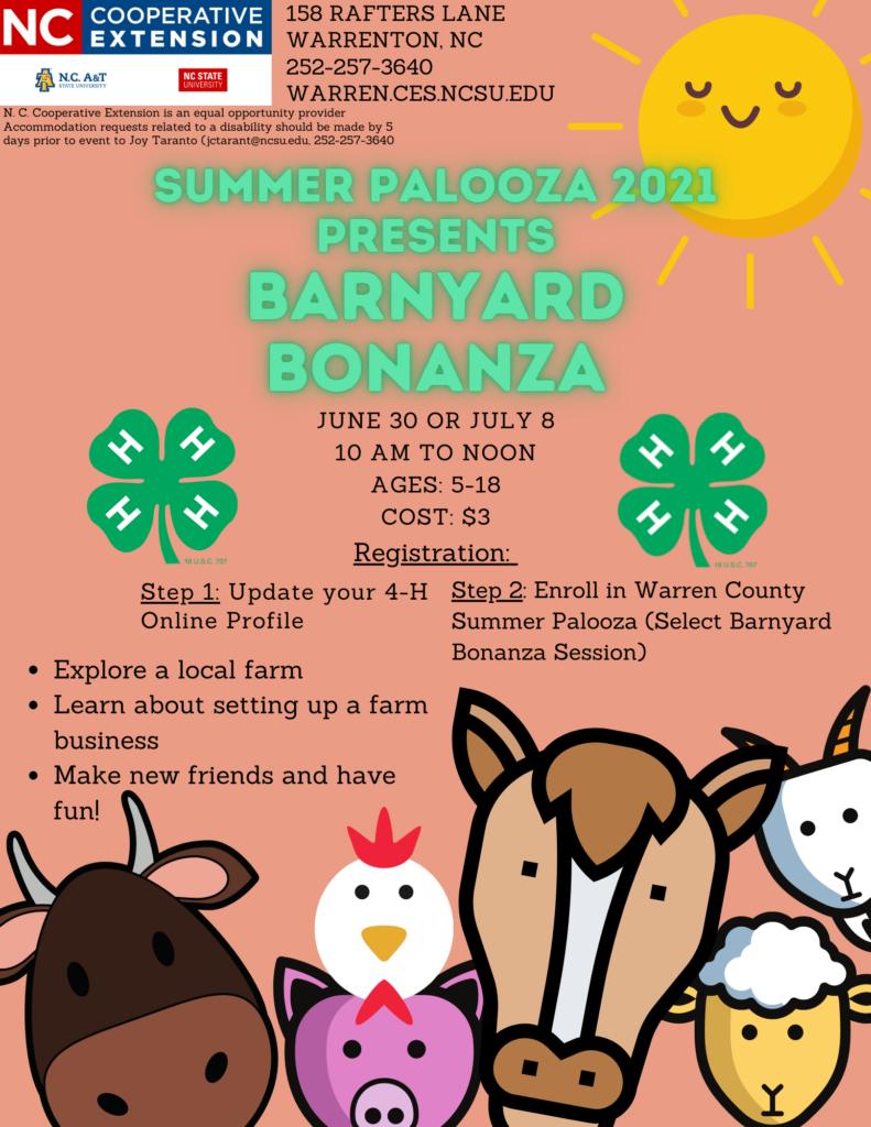 Cartoon sun and barnyard animals