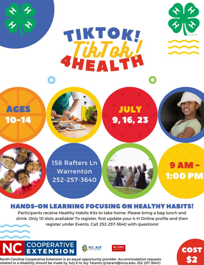 TikTok TikTok 4 Health flyer