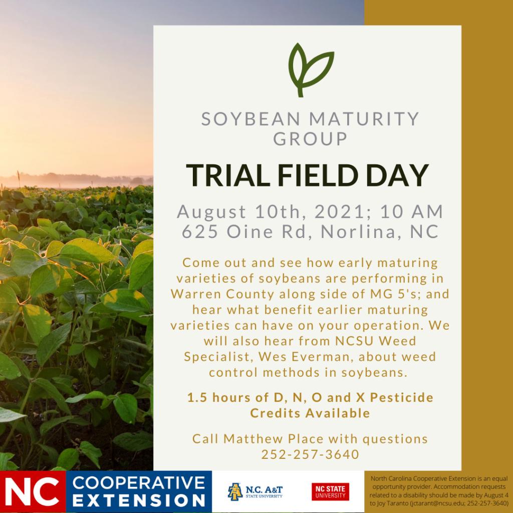 Soybean Trial Field Day flyer