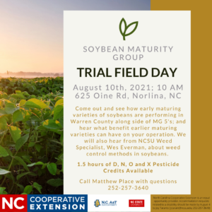 Cover photo for Soybean Maturity Group Trial Field Day